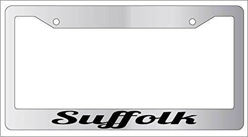 Suffolk Chrome METAL License Plate ()
