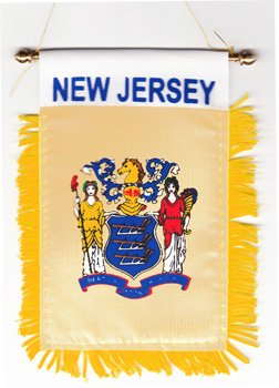New Jersey Outdoor State Flag (New Jersey - Window Hanging Flag)