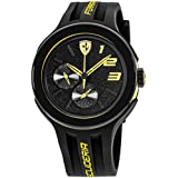 Ferrari Men's 830224 FXX Yellow-Accented Black Watch