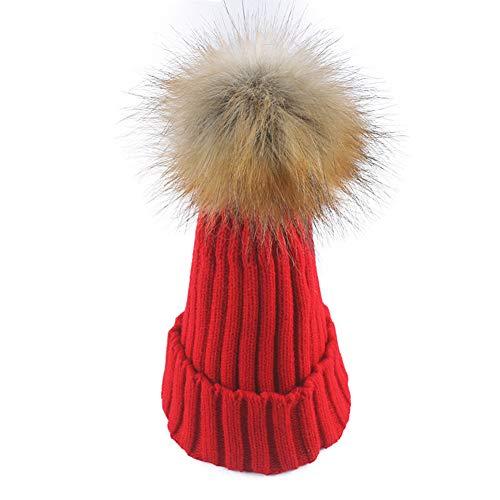 WGFGQX Sombrero De Punto Caliente De Las Señoras Al Aire Libre, Sombrero del Pompom,#1 #5