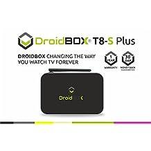 DroidBOX™ T8-S Plus V2 with IR Remote Android 6.0.1 Powered Mini Computer SPMC/DBMC LibreELEC 17 Amlogic Smart TV BOX Chipset S905 GPU Mali-450 2GB RAM 32GB ROM 4K UltraHD HDMI 2.0a [W.IR]