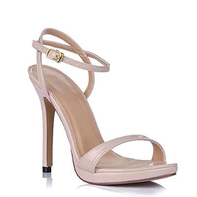 Simple Fashion Women's Open Toe High Heeled Pumps Stiletto Shoes SM00601