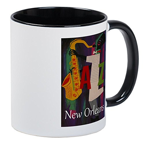 - CafePress Vintage New Orleans Travel Mug Unique Coffee Mug, Coffee Cup
