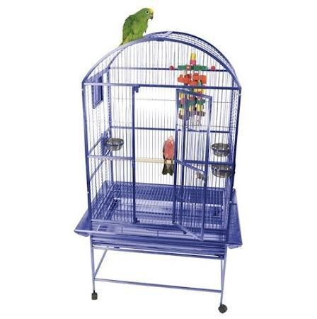 AandE Cage Company White Classico Dometop Medium Bird Cage, 24″ L X 22″ W X 61″ H, My Pet Supplies