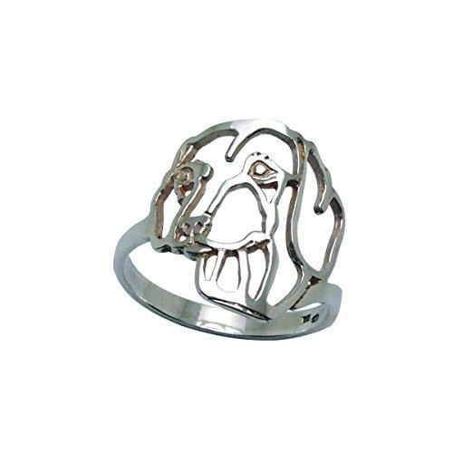 H&H jewellery Teckel ? poil ras bague d'argent - 54; Bigouterie d'argent - Bague (titre 925/1000)
