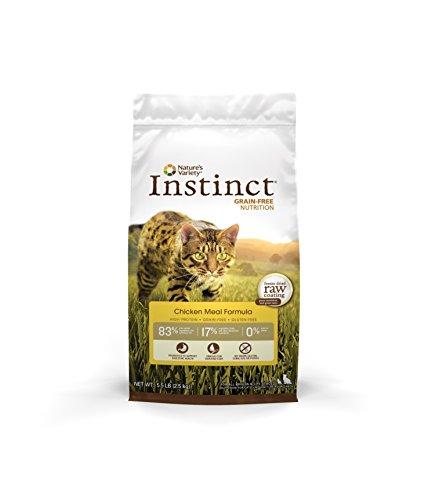 Nature'S Variety Instinct Original Grain Free Chicken Meal Formula Natural Dry Cat Food By, 5.5 Lb. Bag