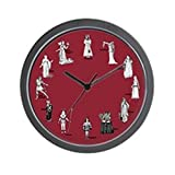 CafePress – Shakespeare's Women Red Wall Clock – Unique Decorative 10″ Wall Clock For Sale