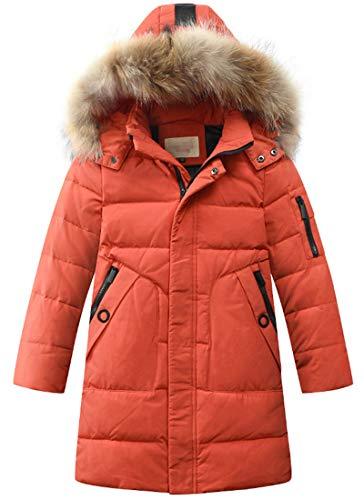 LISUEYNE Hooded Down, Big Boys' Coat, Puffer Jacket, Mid-Long Winter, for Kids