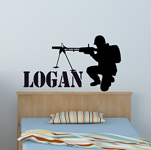 Cheap  Soldier Sniper Army Marine Boys Bedroom Vinyl Wall Decal Sticker Childs Personalized..