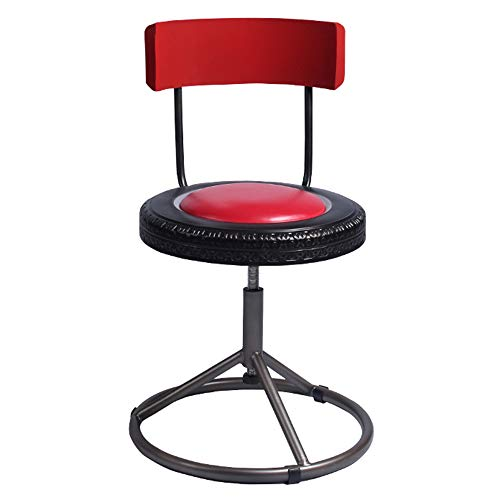 YXQ- Simple Dining Chair American Retro Bar Chair Rotating Lift Stool Wrought Iron Personality Dining Chair Dinette Bar Stool (Color : B)