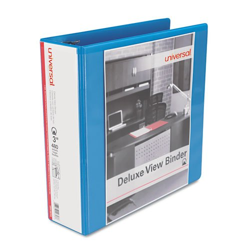 Universal Products - Universal - Deluxe Round Ring Vinyl View Binder, 3