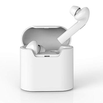 YFQH Auriculares inalámbricos Bluetooth: con Caja de Carga Mini Conveniente Oreja Doble Oreja Auricular Bluetooth HD HiFi batería de Larga duración,White: ...