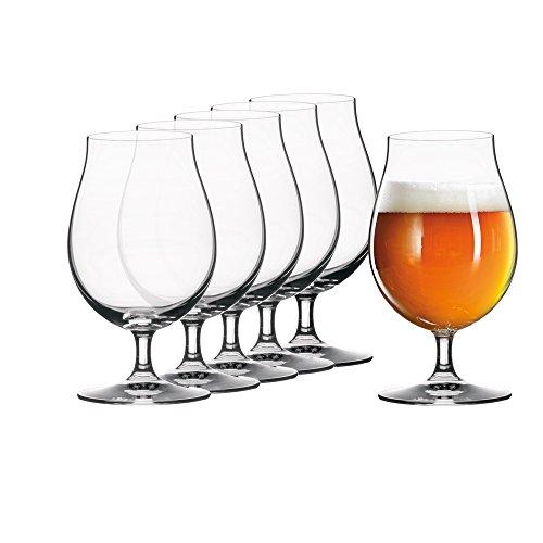 Spiegelau 4991884 15.5 oz Tulip Beer Glasses, Set of 6, Clear