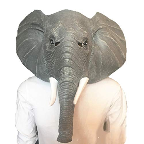 African Elephant Animal Mask, Horror Haunted House Bar Dance Cos Props