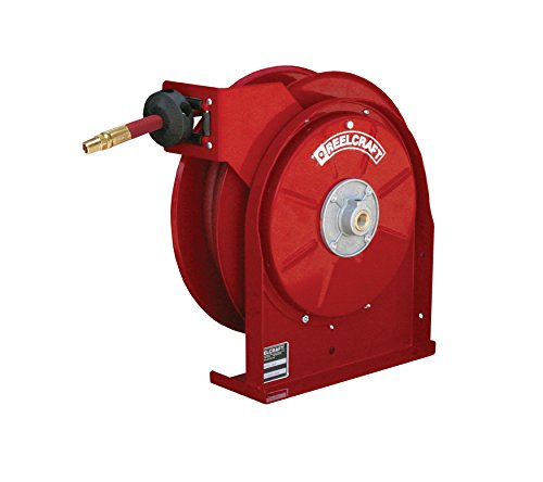 Reelcraft 5450-OLP-HTH 1/4'' x 50ft High Operating Temperature Hose Reel w/ Hose