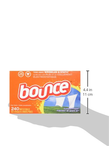 Bounce Fabric Softener and Dryer Sheets, Outdoor Fresh, 240 Count by Bounce (Image #8)