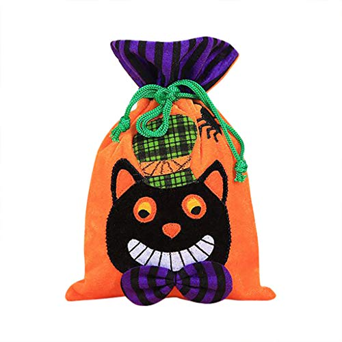 Fine Halloween Candy Bags, Trick or Treat Bags for Kids,Halloween Drawstring Bags, Party Gifts Halloween Decorations ()