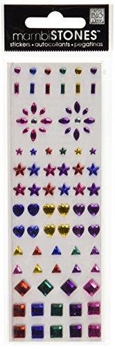 Big Ideas Rhinestone Embellishment Stickers - Me & My Big Ideas Rhinestone Stickers 6-1/2 Inch by 2 Inch Sheet, Color Shapes
