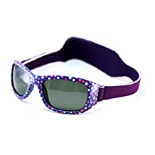 Mola Mola Polarized Baby Sunglasses with strap Purple 1-3 years