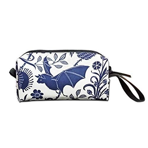 Jessent Coin Pouch Bat Pen Holder Clutch Wristlet Wallets Purse Portable Storage Case Cosmetic Bags -