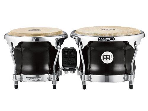 Meinl Fiberglass - Meinl Percussion FFB400BK Free Ride Series Fiberglass Bongos, Black