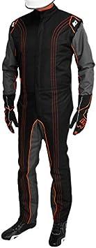 K1 Race Gear CIK//FIA Level 2 Approved Kart Racing Suit Orange, Large