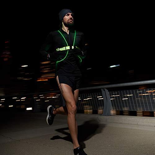 Tracer360 Revolutionary Illuminated /& Reflective Vest for Running /& Cycling with Multicolored LED Fiber Optics Women /& Men, Adjustable, Lightweight, Weatherproof Gear for Jogging /& Biking