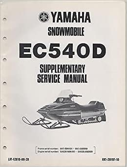 1980 YAMAHA SNOWMOBILE EC540D LIT-12618-00-28