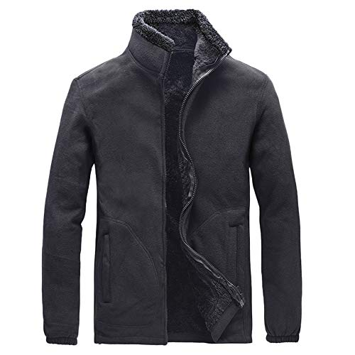 Mens Winter Coat,Cinsanong Sale! Thicken Windproof Casual Jacket Long Sleeve Solid Fluffy Jackets