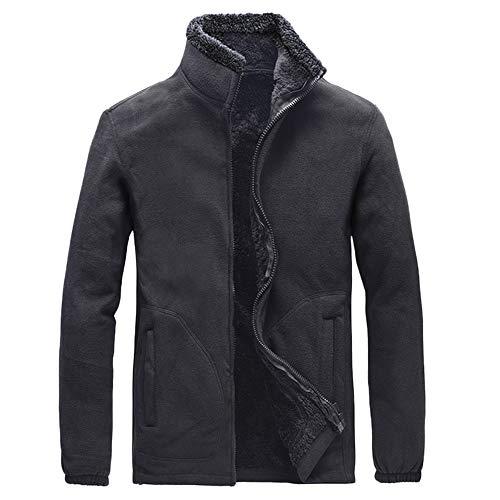 [해외]ykaritianna 남성용 2018 겨울 편안한 캐주얼 긴 소매 솔리드 솜 털 두꺼운 방 풍 자 켓 코트 탑 스 / YKARITIANNA Men`s 2018 Winter Comfy Casual Long Sleeve Solid Fluffy Thicken Windproof Jacket Coats Tops