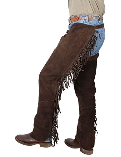 Tough-1 Western Fringed Chaps, Brown, Large ()