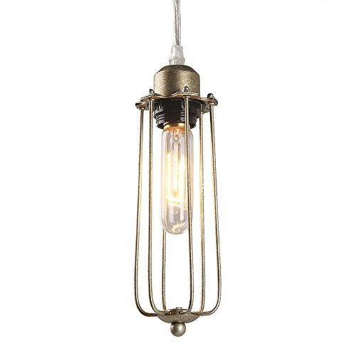 (LNC Industrial Wire Cage Ceiling Lamps Tubular Edison Pendant Light,)