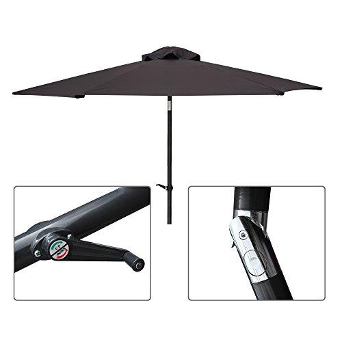 VidaGoods Coffee Outdoor Patio Aluminum Umbrella Common Opti