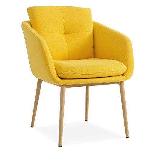 Ergonomic Desk Chair Ergonomic Office Chair Desk Chair Upholstered Armchair Computer Task Chair Accent Dining Chair Lounge Coffee Chair (Color : Yellow) -