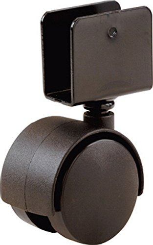 Shepherd Hardware 9420 1-5/8-Inch Office Chair Caster, Twin Wheel, 11/16-Inch U-Bracket, 40-lb Load Capacity, 4-Pack