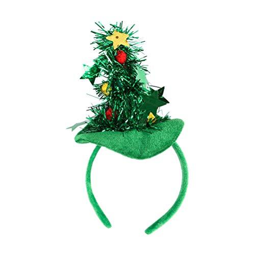 Amosfun Animal Headband Christmas Tree Funny Hair Hoop for Halloween Christmas Pet Accessories -