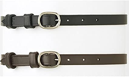 Camelot Ladies/' Round Buckle Leather English Spur Strap Adjustable
