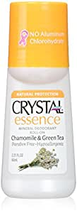 Crystal Essence Mineral Deodorant, Roll-On Chamomile and Green Tea, 2.25 Fluid Ounce