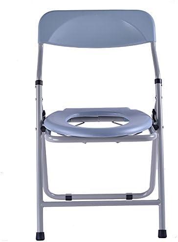 Cqq Badestuhl Bettsoilette/Badstuhl/Toilettenstuhl/Toilettenstuhl Steel Pipe Lightweight faltbar weiß Geeignet für Senioren, Behinderte, Schwangere
