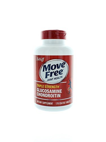 Schiff Move Free Joint Health Triple Strength Glucosamine Chondroitin - 10 Bottles, 170 Tablets Each by Move Free
