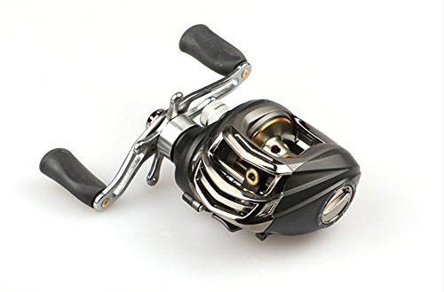 renauoメタルBaitcasting釣りリール右利き14 BB Gr 6.3 : 1ブラックマット   B00WFWF196