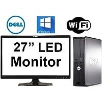 Dell Optiplex 380 Desktop Computer, NEW 1TB Hard Drive, Intel Core 2 Duo 3.0 CPU, 8GB DDR3 Memory, WiFi, Windows 10 Pro, 27 inch LED Planar MonitorREFURB