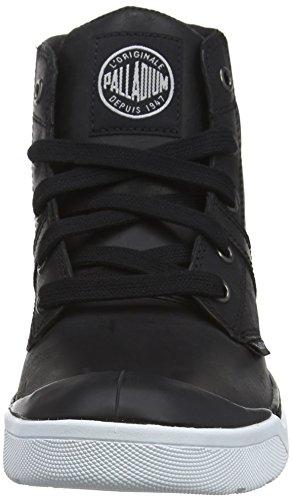 Palladium Pallarue Hi Leather, Botas Militar para Mujer Negro (Black/White 002)
