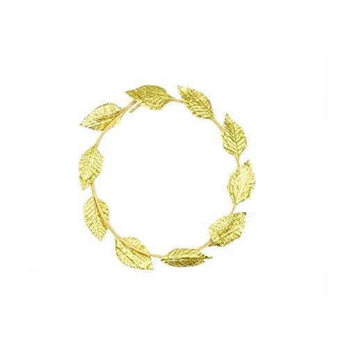 Gold Laurel Leaf Wreath - Mytoptrendz 1 Pcs Roman Greek God Goddess Laurel Wreath Headpiece Toga Fancy Dress Costume Party ( - 1 Piece)