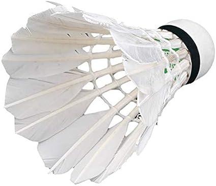 6 Stück Nylon Badminton Federbälle Bälle Sport Training Spiel weiß
