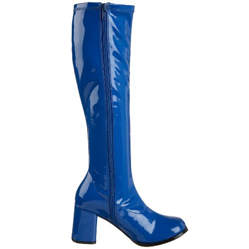 Funtasma von Pleaser Frauen Gogo-300 Boot Marineblaues Stretch-Patent