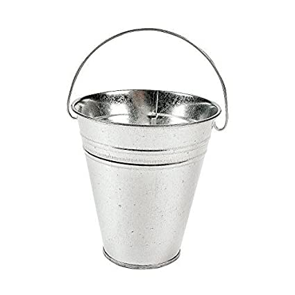 Amazoncom Tv Otc Cute Galvanized Buckets Easter Pails Decorative