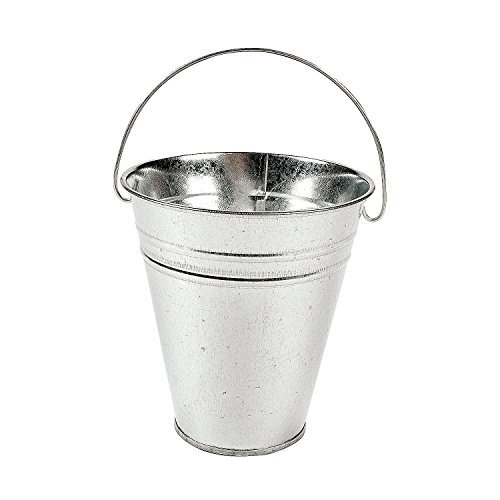 Tin Pail Bucket (Large Galvanized Buckets (1 dozen) - Bulk [Toy])