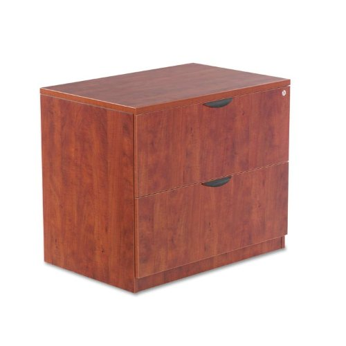 Aleraamp;reg; - Valencia Series Two-Drawer Lateral File, 34w x 22 3/4d x 29 1/2h, Medium Cherry - Sold As 1 Each - Sturdy four-sided drawer construction with separate front (2 Sided Cherry Cabinet)