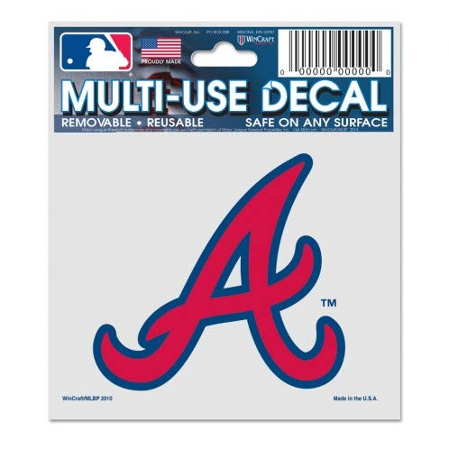 (WinCraft MLB Atlanta Braves 84488010 Multi-Use Decal, 3